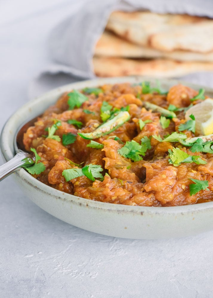 Baingan Bharta Smoked Eggplant Curry