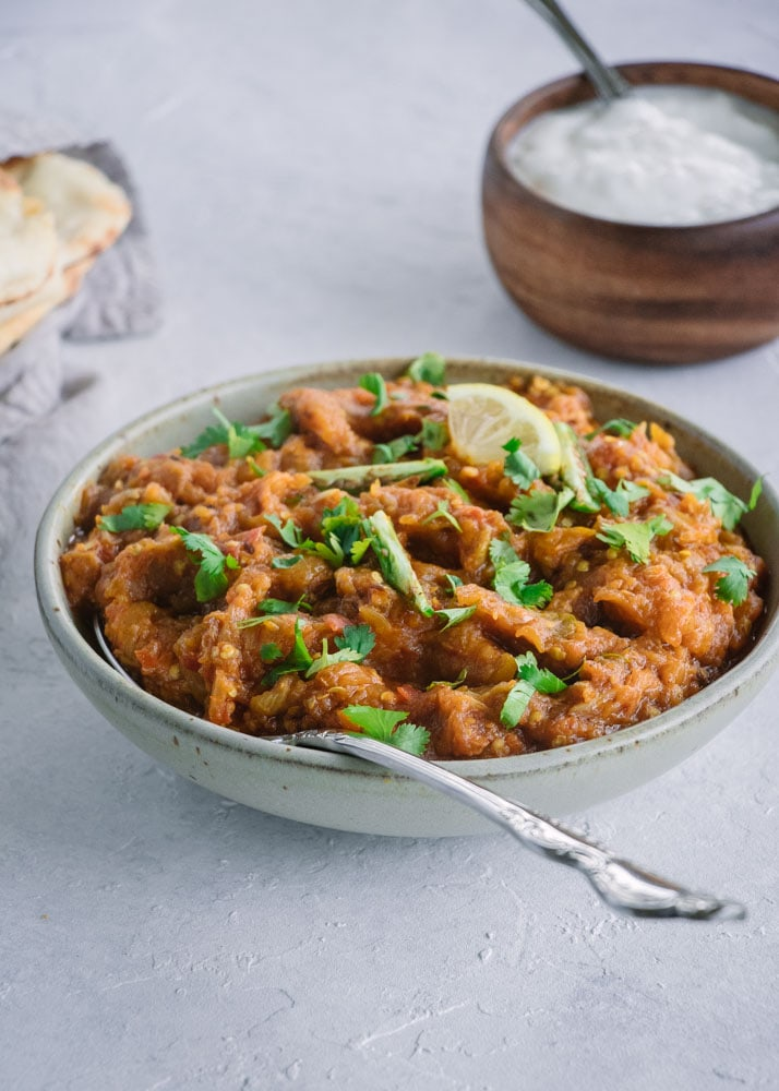 Baingan Bharta Smoked Eggplant Curry