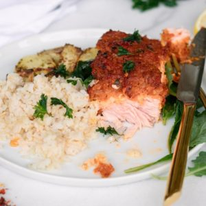 Baked Salmon in Spicy Tomato Masala Side