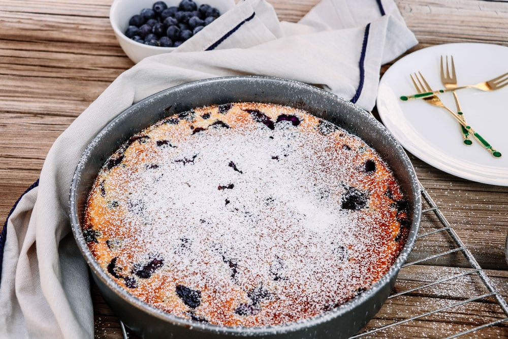 Gluten-Free Blueberry Lemon Clafoutis