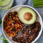 Spiced Burrito Bowl with Roasted Corn and Poblano Peppers