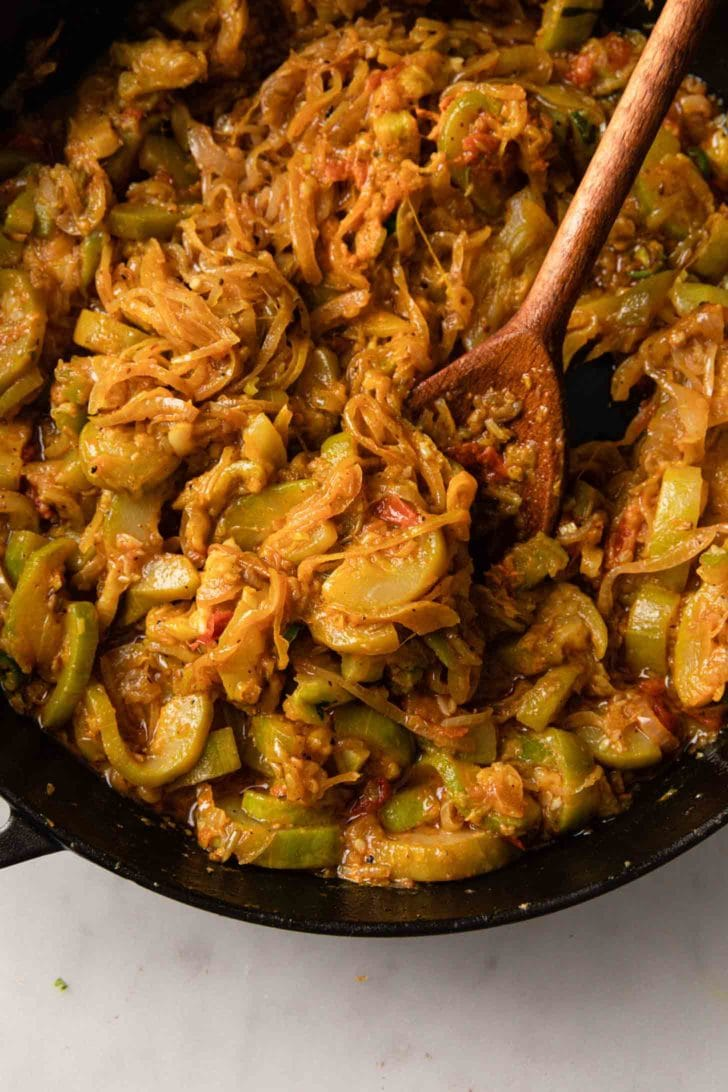 Curried zucchini (courgette)