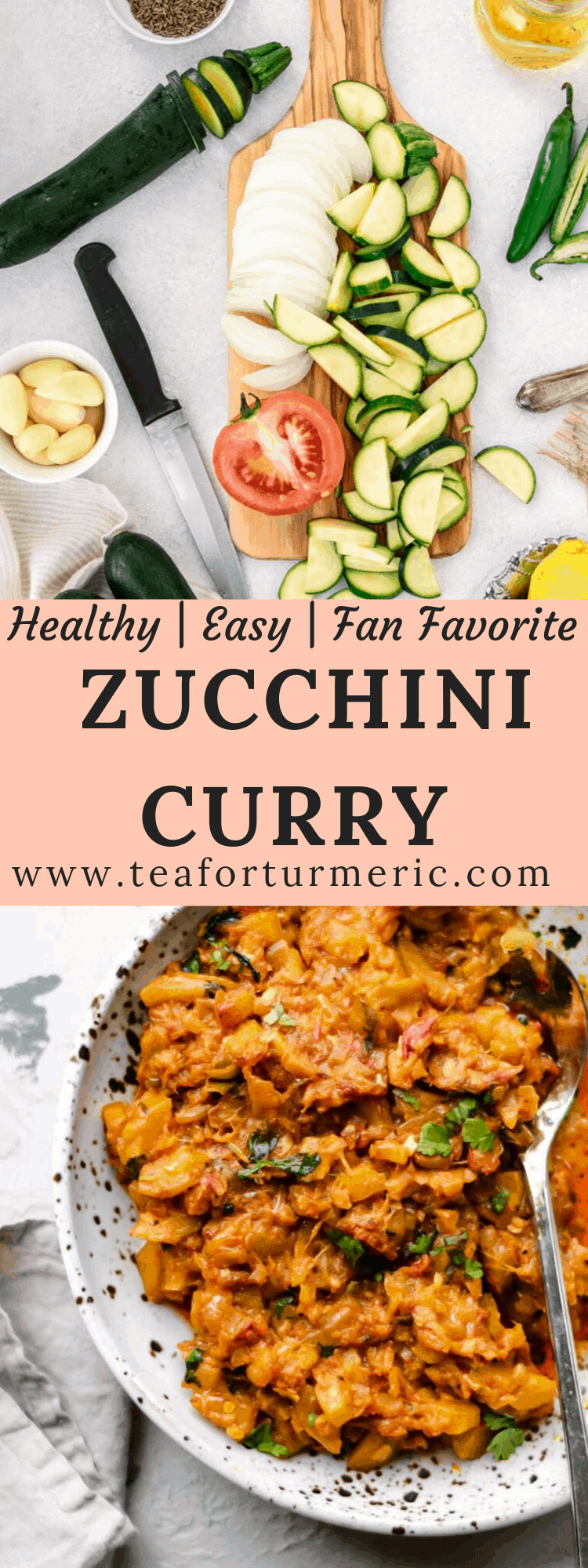 Highly reviewed, fan-favorite Pakistani Zucchini (Courgette) Curry called Toriyan or Torai ki sabzi in Urdu. This is a very tasty healthy & vegan curry that\'ll transform everyday Zucchini into something even kids will love! #vegancurry #zucchinicurry