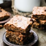 Easy Flourless Chocolate Chip Nut Squares (Gluten + Dairy Free)