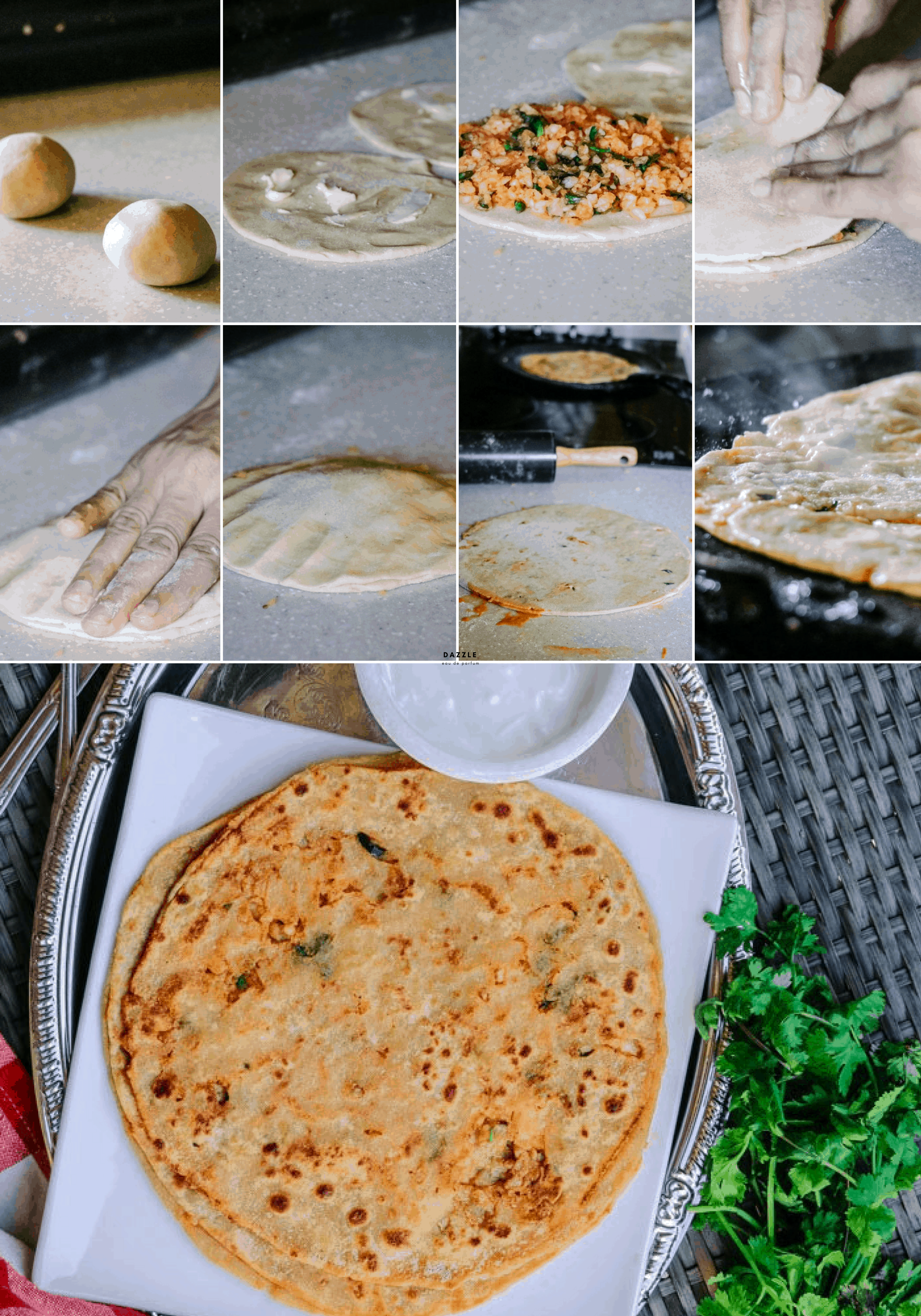 Mooli Waala Paratha - Daikon-Stuffed Flatbread. These traditional Mooli Wala Partha (daikon stuffed flatbread) is a popular breakfast recipe in Pakistan and India. This recipe has a 4-ingredient filling and includes step-by-step photos and simple directions!