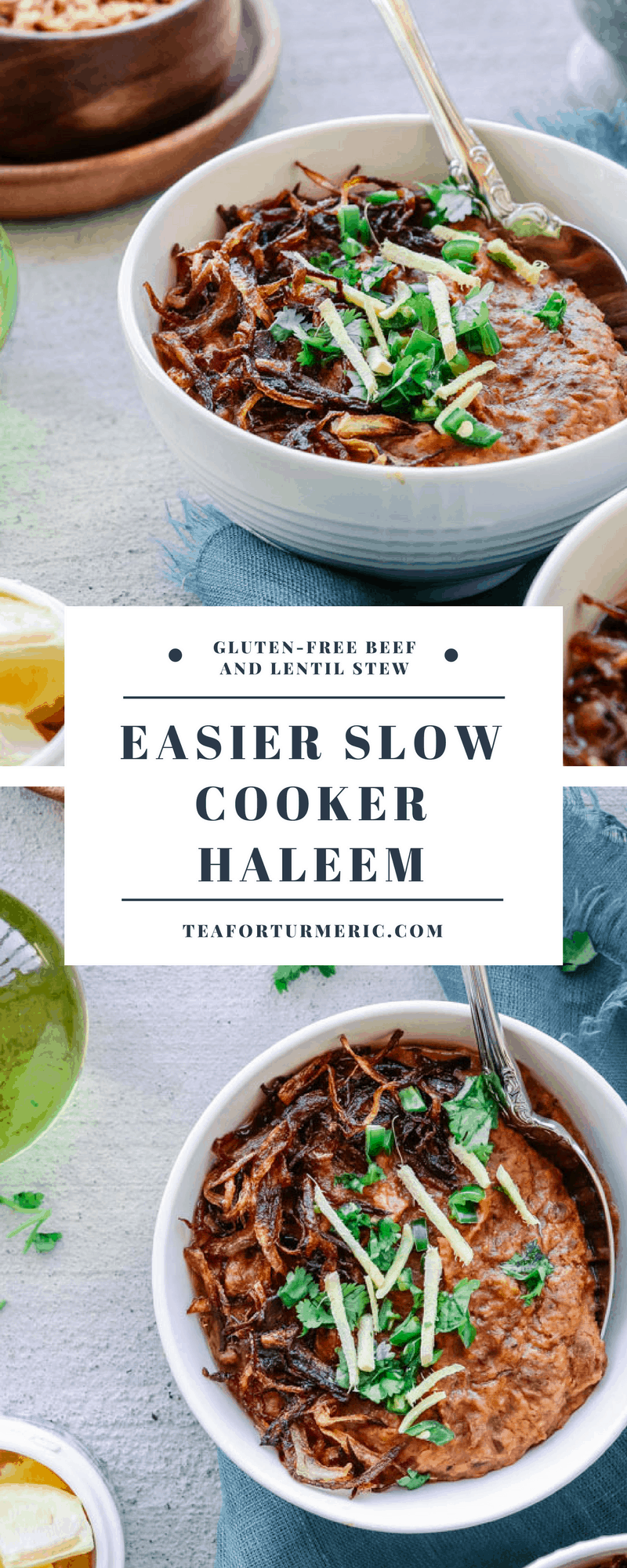 Haleem is a traditional Pakistani slow-cooked stew made of beef, lentils, and oats. This slow-cooker recipe makes it easy to enjoy this wholesome comfort food that\'s loved all over the world. This recipe is easy-to-follow and gives the most authentic results. Naturally gluten-free!