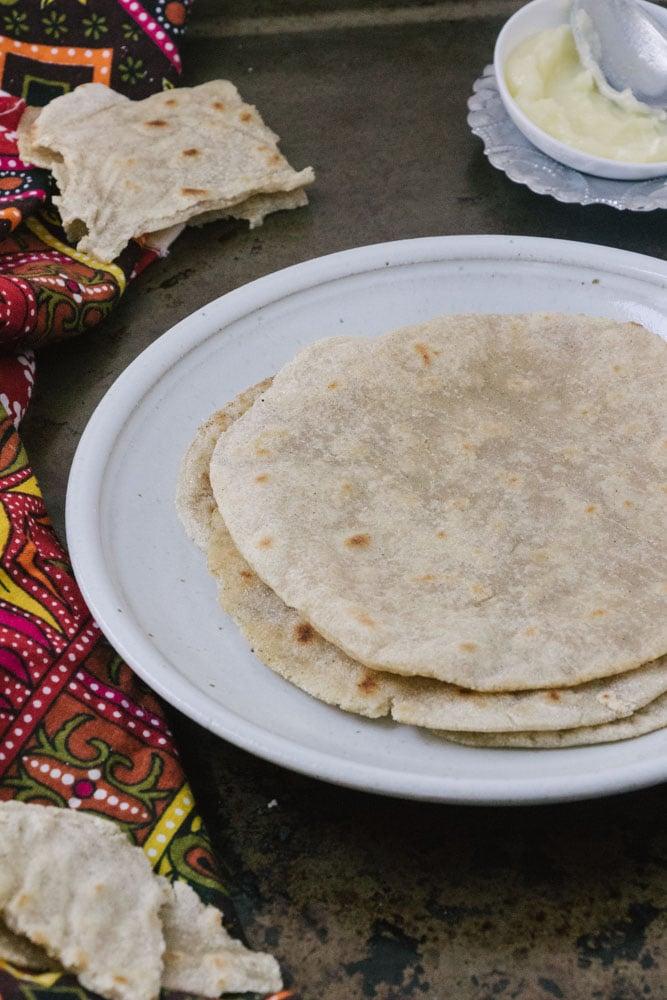 Gluten-Free Cassava and Sorgum Flour Roti