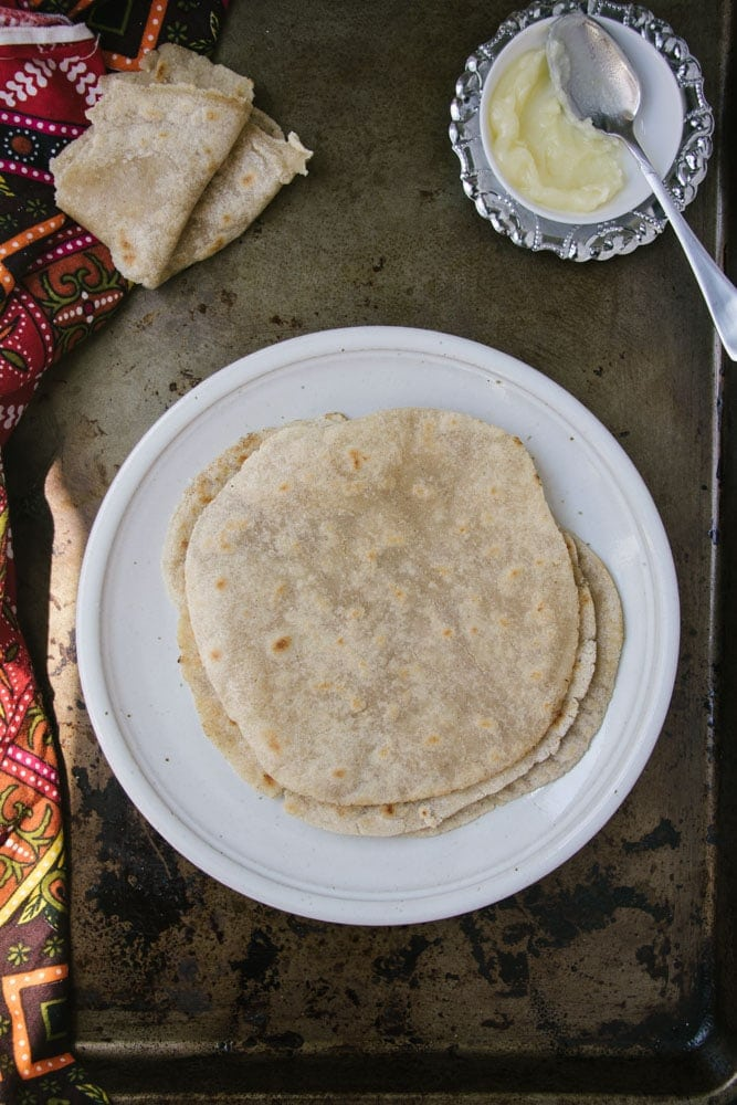 Gluten-Free Cassava and Sorghum Flour Roti