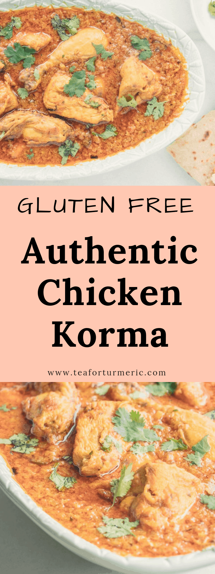 This is a traditional recipe for chicken korma yet it\'s easy enough to make on a weeknight. It\'s a naturally gluten-free, one-pot chicken curry made in the Pakistani and North Indian way. #chickencurry #chickenkorma #korma