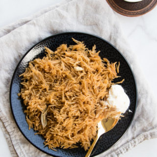 Easy Jaggery Rice in the Rice Cooker - Gur Wale Chawal