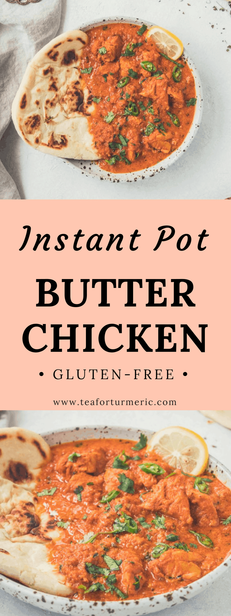 This restaurant-style Instant Pot Butter Chicken recipe is easy to prepare yet yields authentic, deep flavor, and tender chicken! #butterchicken #indianfood