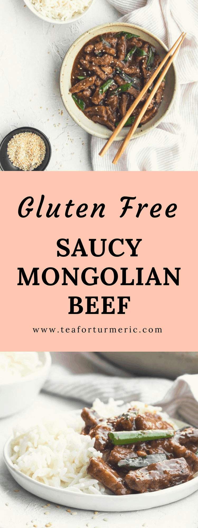 This tested-and-perfected gluten-free Mongolian Beef recipe has a little extra sauce (and flavor)! #glutenfreedinner #mongolianbeef