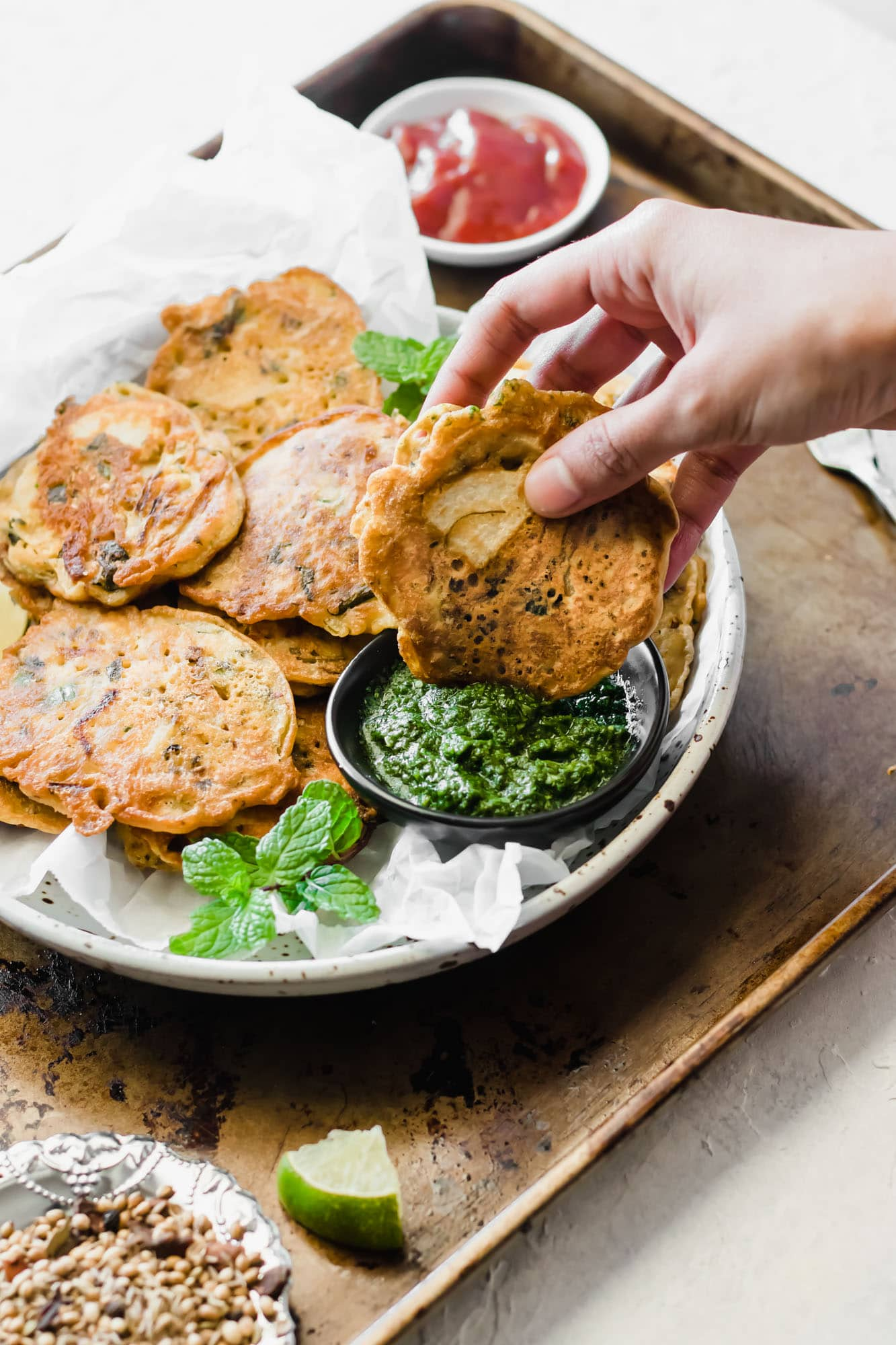 Healthier Pan Fried Pakistani Pakora
