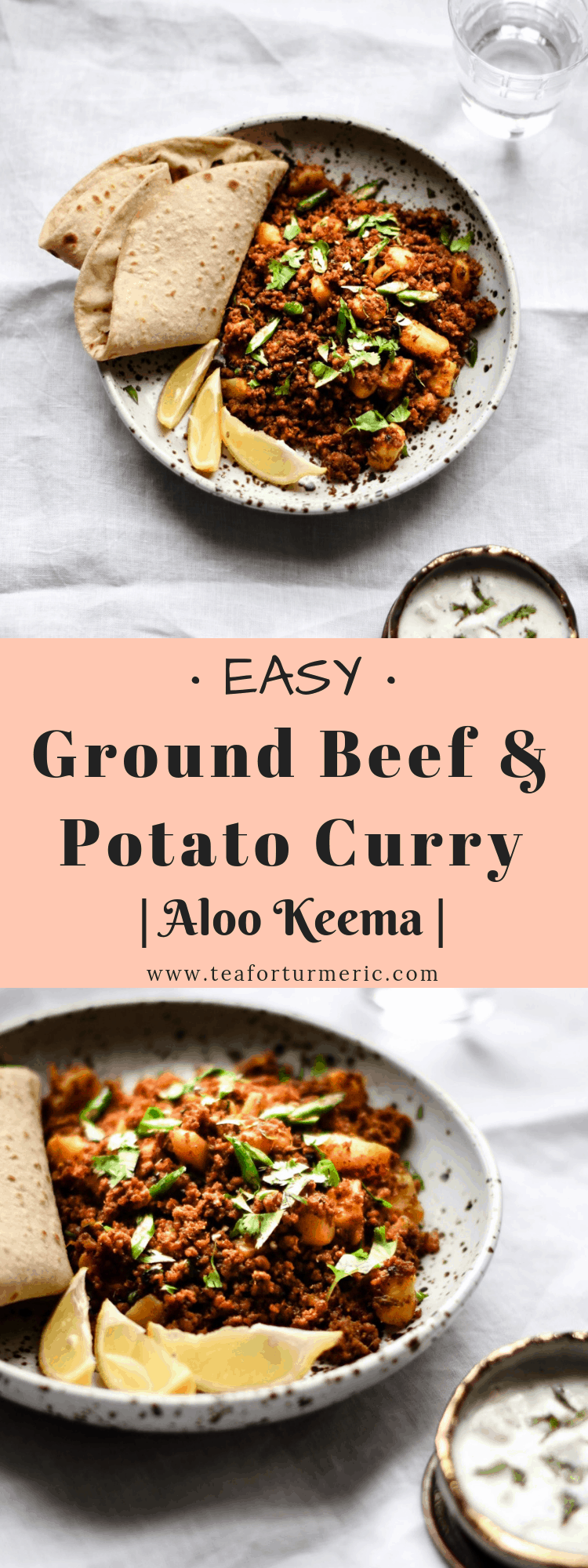 Authentic, homestyle, Pakistani and North Indian style Ground Beef and Potato curry - Aloo Keema. This is a one-pot recipe that\'s simple, easy-to-make, and gives the most flavorful results!