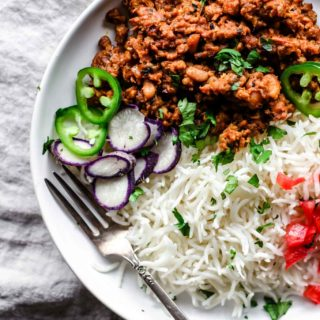Instant Pot Keema Lobia (Ground Beef & Black Eyed Peas Curry)