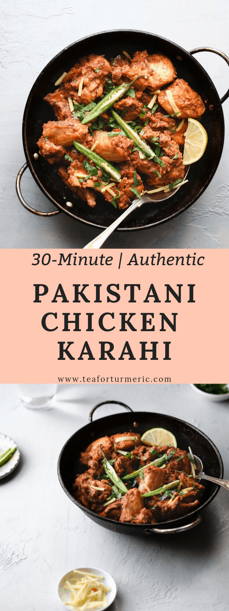 Chicken Karahi, or Kadai chicken, is undoubtedly one of the most popular curries in and out of Pakistan and India. This is a restaurant-style Pakistani Chicken Karahi recipe that can be prepared quickly and easily with no finicky steps. #pakistanifood