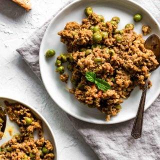 Keema Matar (Ground Beef and Peas Curry)