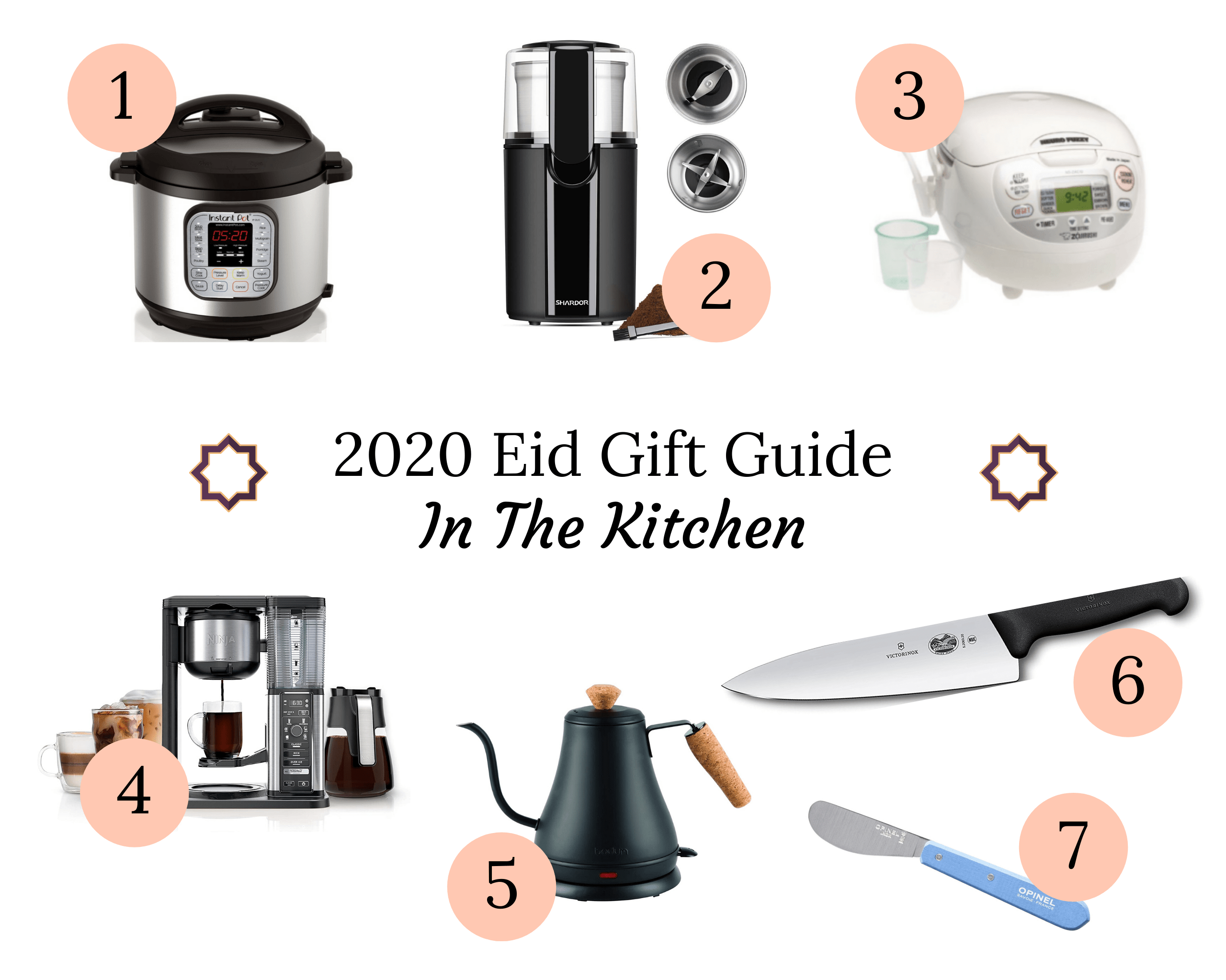 Eid Gift Guide Ideas for the Kitchen in a collage