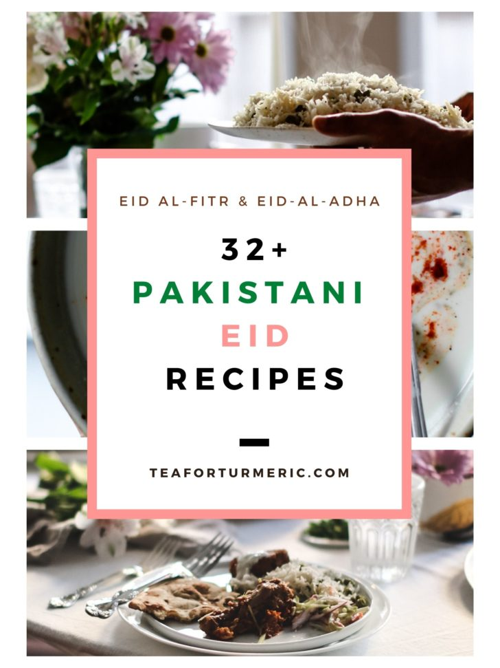 Cover page for 32+ Pakistani Eid Recipes.